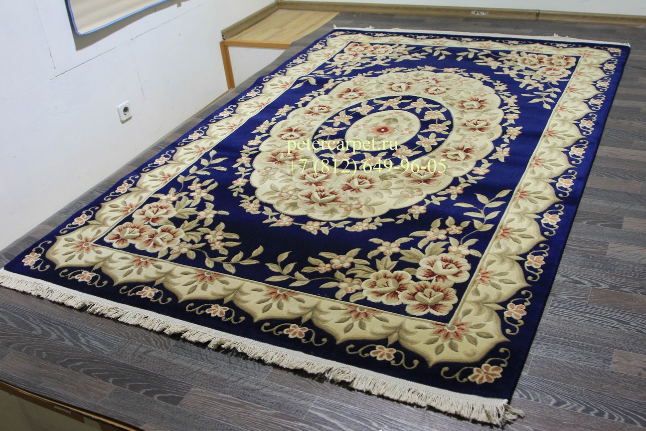 Woolen Machine-made carpets QJ0359MC_NAVY