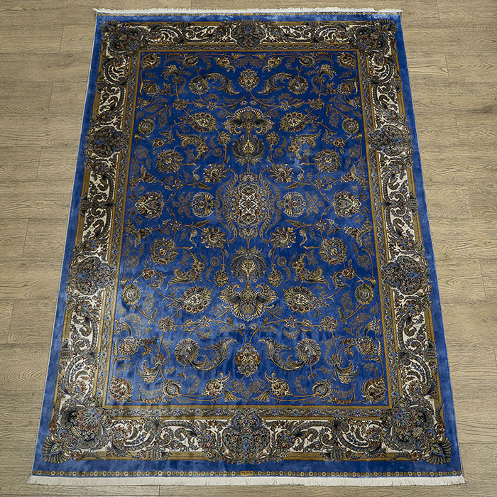 Qum (silk) 2003U_BLUE_CREAM